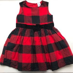 Carter's Buffalo Plaid Special Occasion Dress 18m
